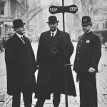 First Traffic Signal, Third & Morrison, 1915